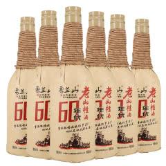 吉林雪兰山酒60年代老山楂酒6度600ml 6支整箱