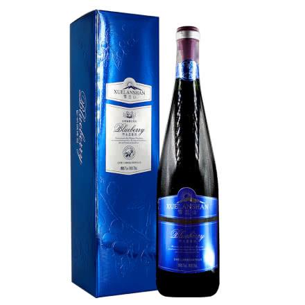 雪兰山野生蓝莓酒7度750ml 盒装
