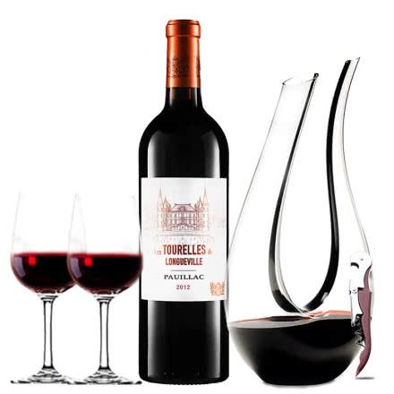 (列级庄·名庄·副牌)法国红酒波亚克碧尚男爵庄园男爵古堡副牌2012干红葡萄酒750ml