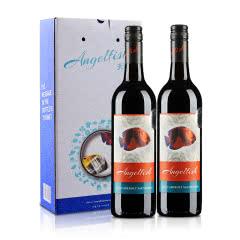 澳大利亚天使鱼珊瑚系列加本力苏维翁半干红葡萄酒750ml(双支礼盒装)