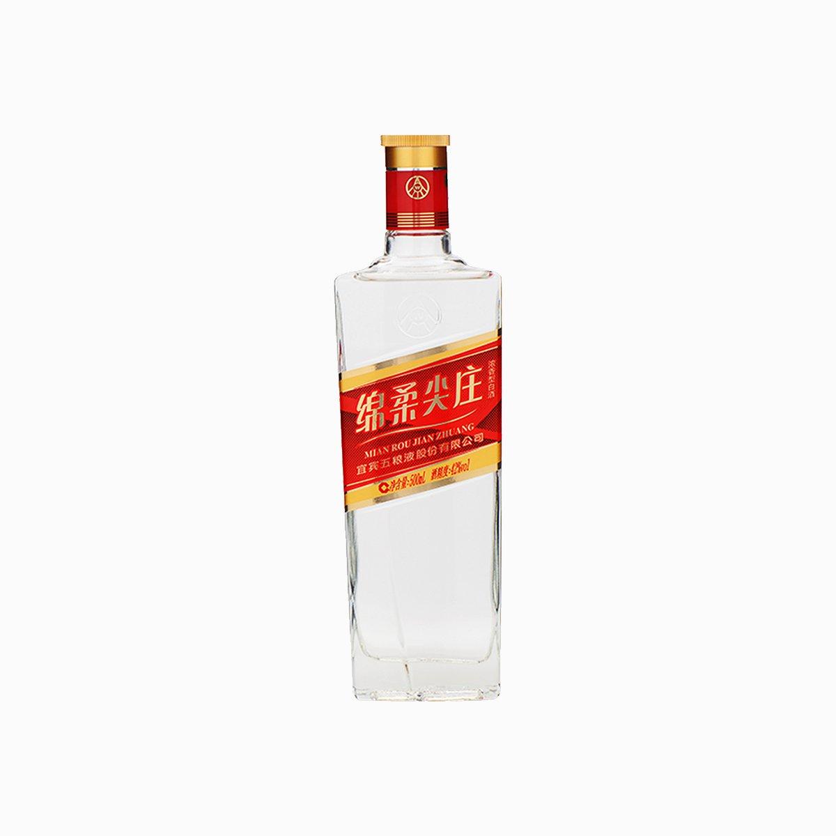 五粮液股份尖庄42度红钻白酒500ml
