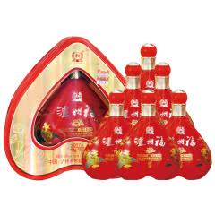 泸州福百年同心52度520mL*6瓶整箱装白酒婚宴喜宴红瓶带防伪送礼袋