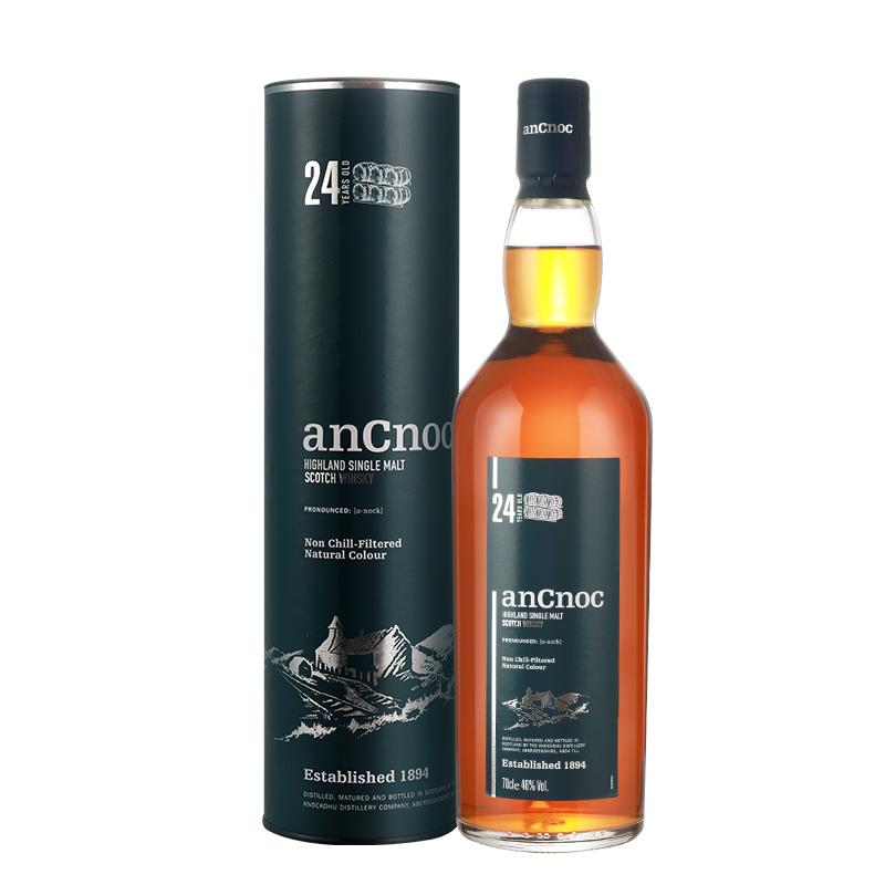 46°安努克(AnCnoc)24年单一麦芽威士忌700ml