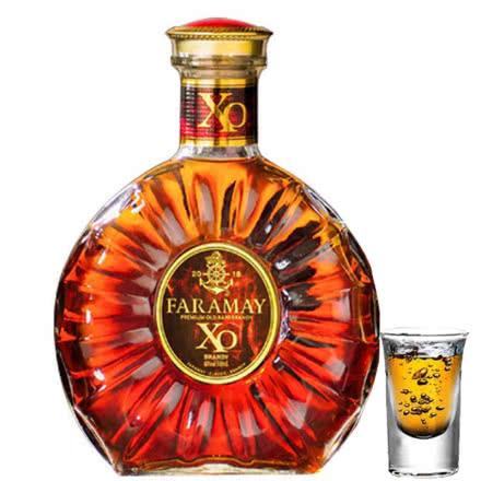 【买赠酒杯】40°法拉玛依XO经典白兰地烈酒洋酒500ml单瓶