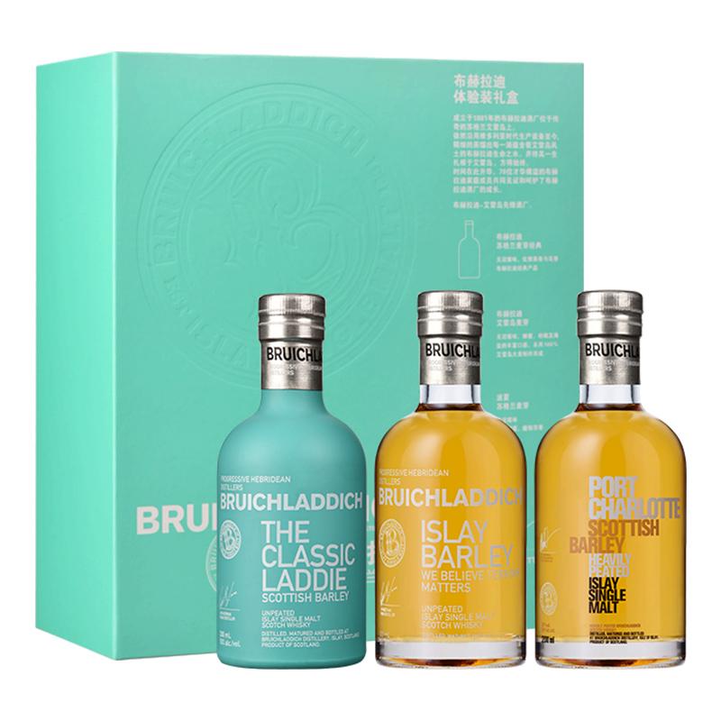 布赫拉迪体验装礼盒单一麦芽威士忌200ml*3