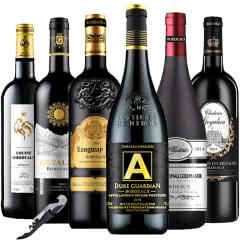 法国原瓶进口红酒波尔多AOC/AOP干红葡萄酒750ml*6 (组合套装)