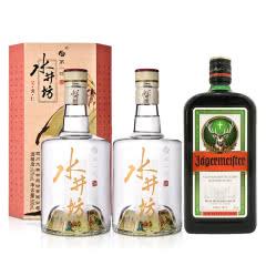 52°水井坊·三国系列(义勇仁)500ml*2+35°野格利口酒(配制酒)700ml