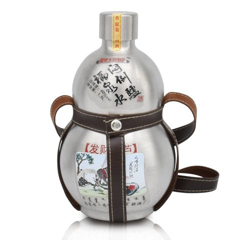 60°福泉水闷倒驴蒙古烈酒 不锈钢壶清香型高度白酒3斤装 1500ml*1