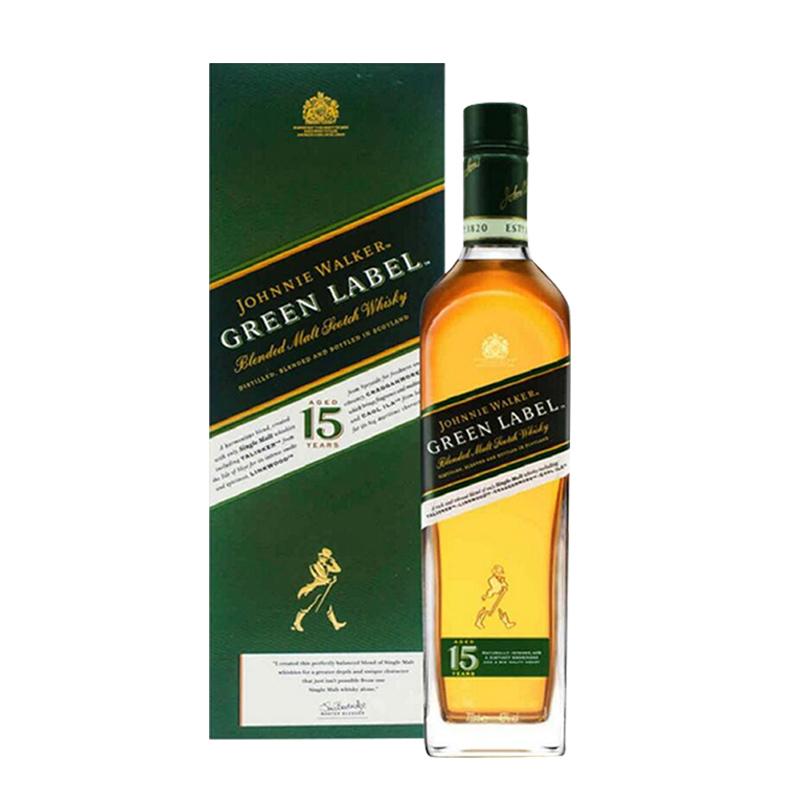 43°尊尼获加绿牌15年调配苏格兰威士忌750ml