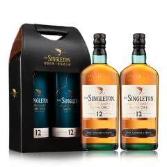 40°苏格登12年双支礼盒装单一麦芽威士忌700ml*2