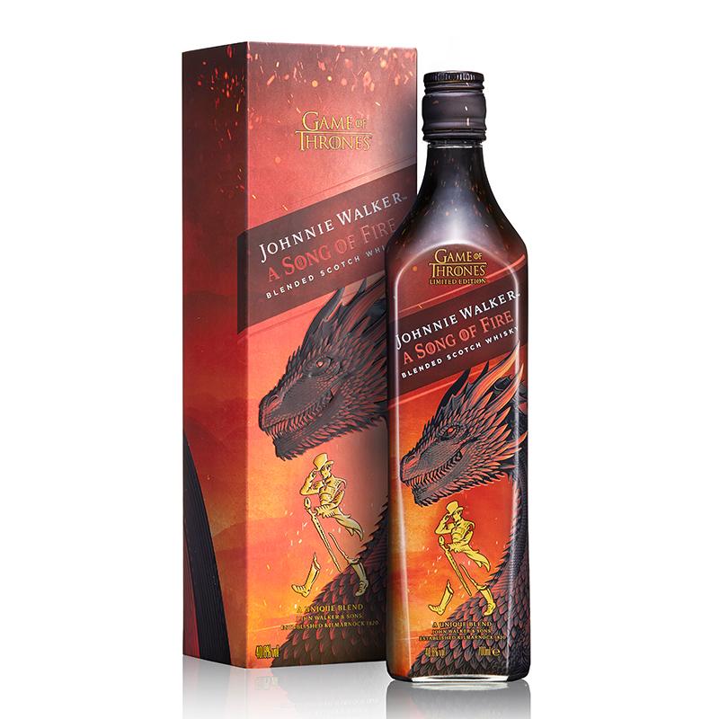 40.8°英国尊尼获加调配苏格兰威士忌(权力的游戏-火版)700ml(又称权利的游戏)
