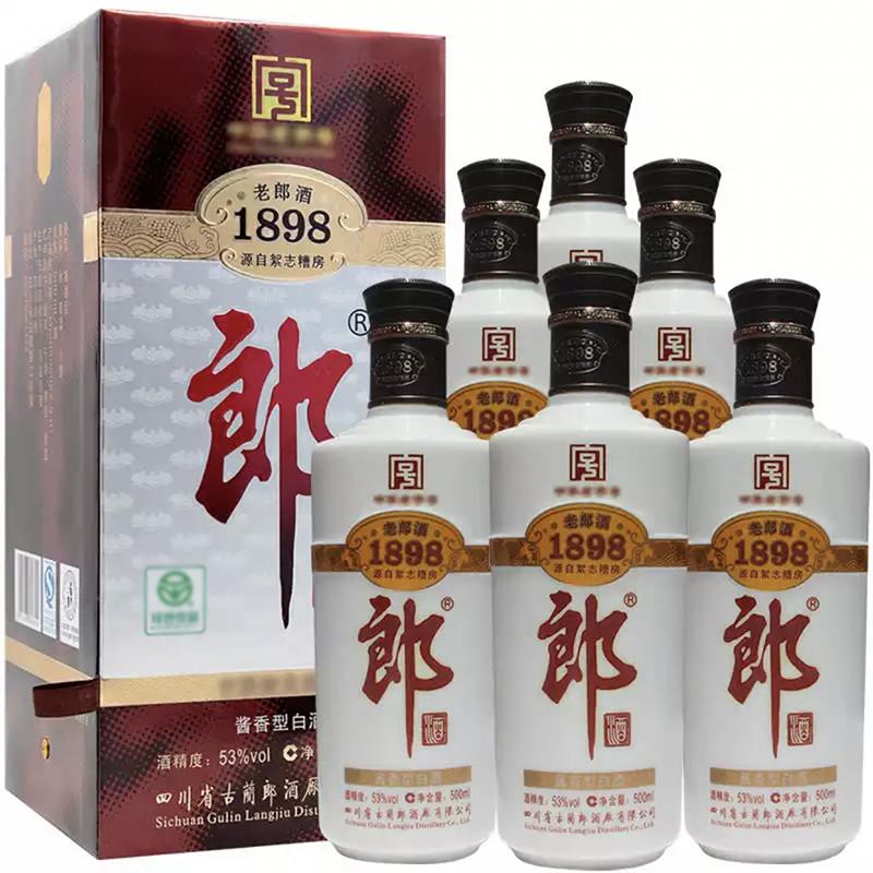 融汇陈年老酒 53°郎酒 1898老郎酒 (500ml)6瓶装 2011年