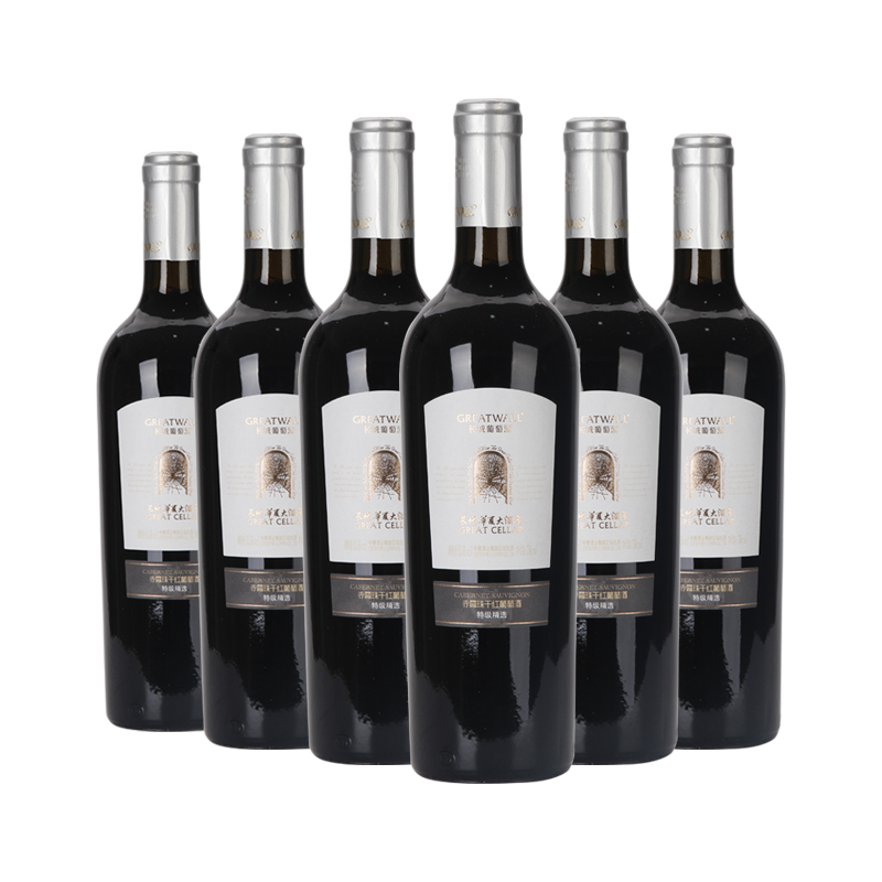 中国长城华夏大酒窖特级精选赤霞珠干红葡萄酒酒750ml(6瓶装)
