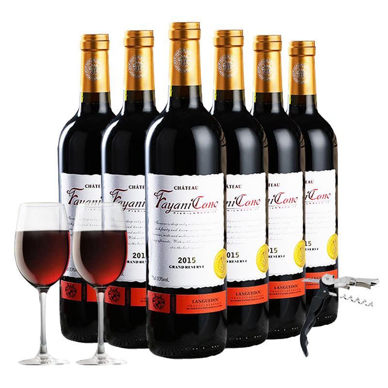 法国原瓶进口红酒 朗格多克 法雅尼卡诺干红葡萄酒红酒整箱750ml*6