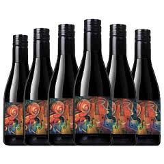 小提琴干红葡萄酒澳洲西拉梅洛红酒单只187ml整箱六支装