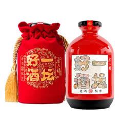 40.8°金六福一坛好酒红坛川酒浓香型纯粮白酒喜酒500mL单瓶