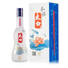 陕西太白酒和雅太白酒6年46度白酒 单瓶500ml