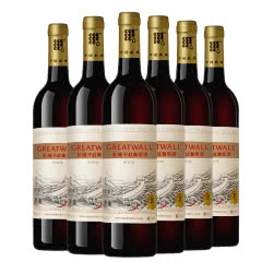 红酒 中粮长城干红葡萄酒 长城陈酿系列750ml 陈酿解百纳6瓶装