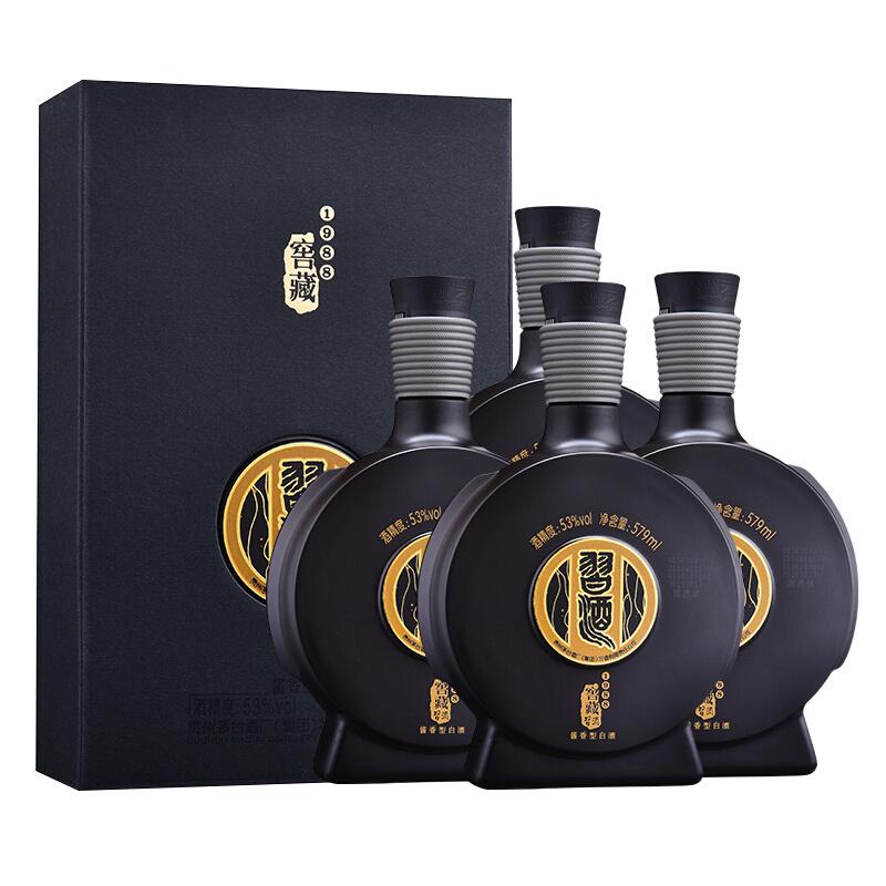 53°茅台集团 习酒 窖藏1988 雅致版 酱香型白酒 579ml*4瓶 整箱装