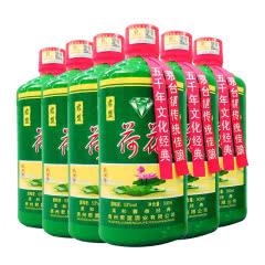 53°贵州茅台镇君盟 荷花酒酱香型白酒整箱500ml*6瓶装