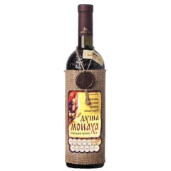 俄罗斯原瓶进口麻袋片红酒摩尔多瓦修士的心半甜葡萄酒750ml