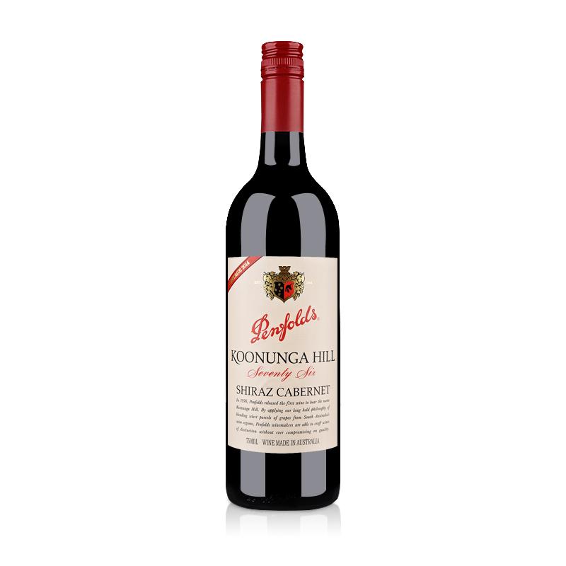 澳大利亚奔富蔻兰山设拉子赤霞珠红葡萄酒(76版)750ml