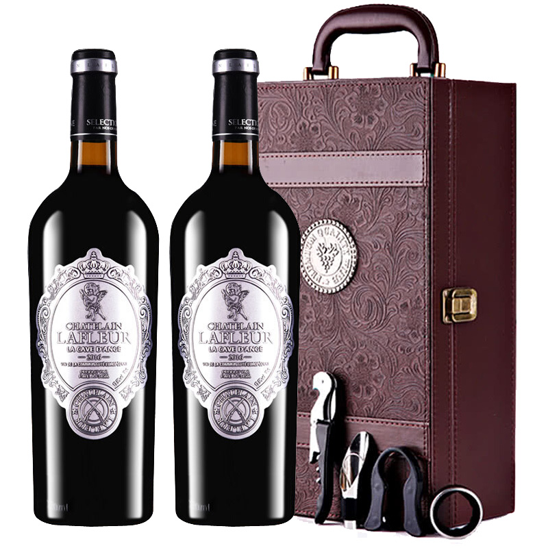法国进口红酒拉斐天使酒园干红葡萄酒礼盒装750ml*2