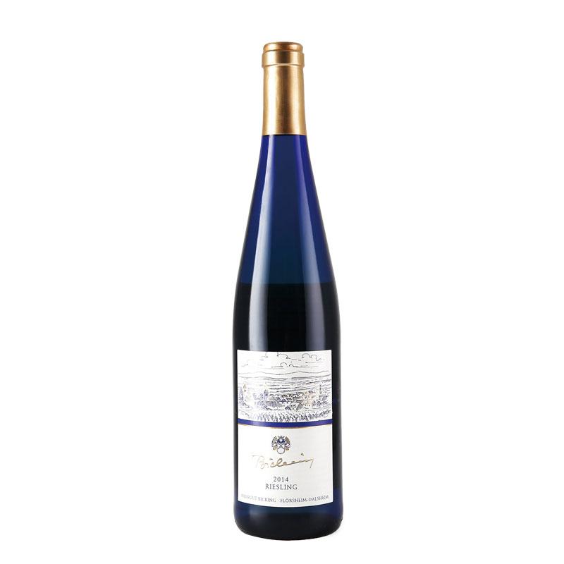 德国原瓶进口 蓝贝雷司令白葡萄酒750ml(单支)产自德国莱茵黑蓝贝酒庄QbA优质白葡萄酒