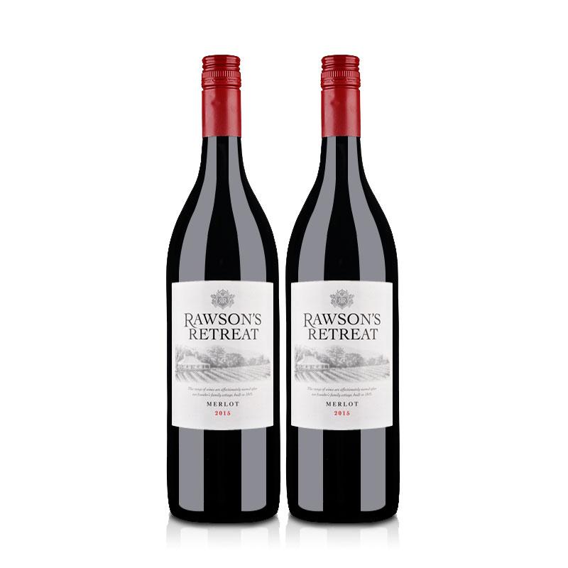 澳洲红酒澳大利亚奔富洛神山庄梅洛干红葡萄酒1000ml(双瓶装)