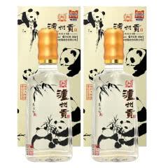 52度泸州老窖  保护大熊猫爱心纪念版 泸州贡浓香型白酒 500ml*2瓶