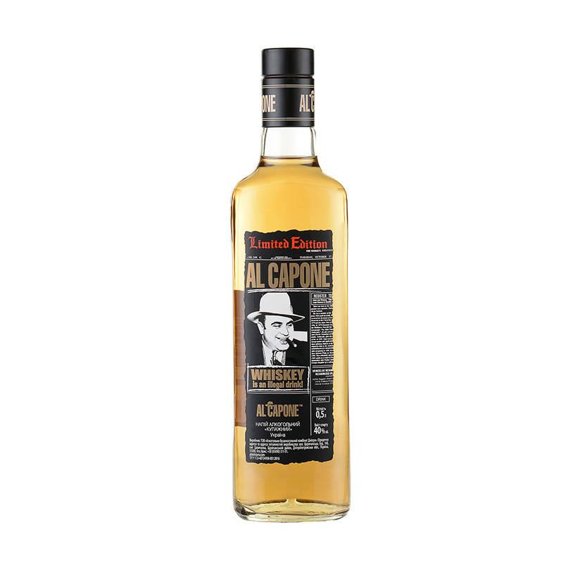40°乌克兰原瓶进口洋酒阿尔·卡彭威士忌500ml