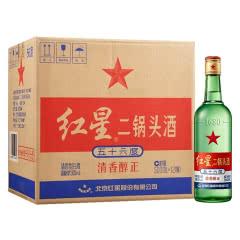 56°北京红星二锅头绿瓶500ml(12瓶装)