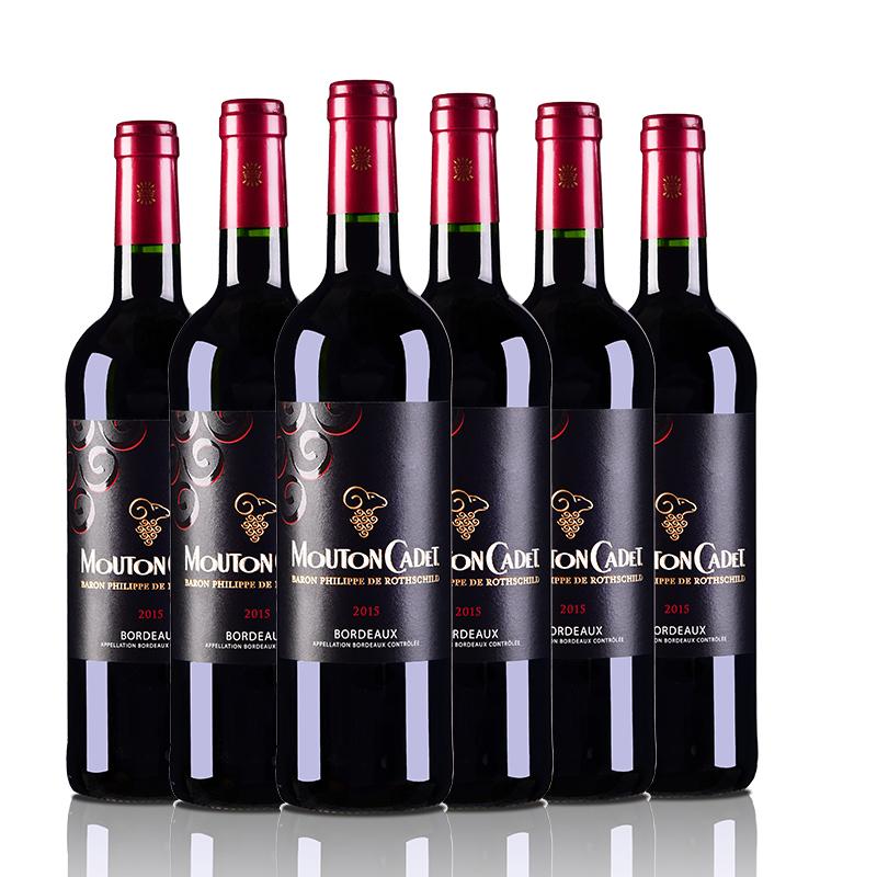 法国红酒套装罗斯柴尔德木桐嘉棣红葡萄酒750ml(又名:法国木桐嘉隶红葡萄酒750ml)(6瓶装)