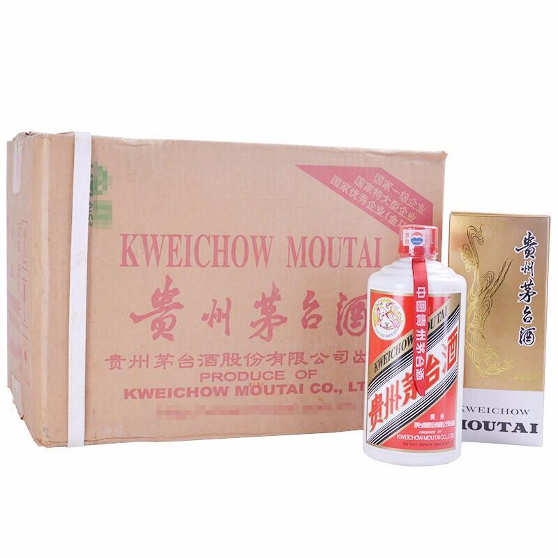 【老酒特卖】53°茅台飞天500ml*12(2000年)原厂包装整箱