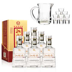 52°扳倒井52 500ml(6瓶装)+白酒精品酒具7件套
