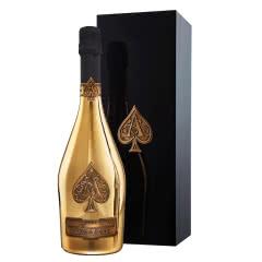 黑桃A香槟 法国原进口起泡酒 黑桃A起泡酒钢琴漆礼盒 黄金版750ml 钢琴漆礼盒版
