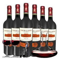 路易拉菲Louis Lafon法国原酒进口经典干红葡萄酒 醒酒器装750ml*6
