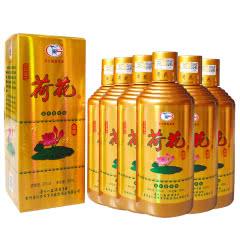 【2018年】53°贵州茅台镇京华盛世金荷花 香柔酱香型白酒 500ml(6瓶整箱)