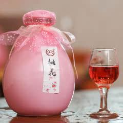 12°果酒露酒桃花 荔枝 樱桃 黑糯米 蓝莓 玫瑰  糯米 桑葚 桂花青梅酒500ml单瓶