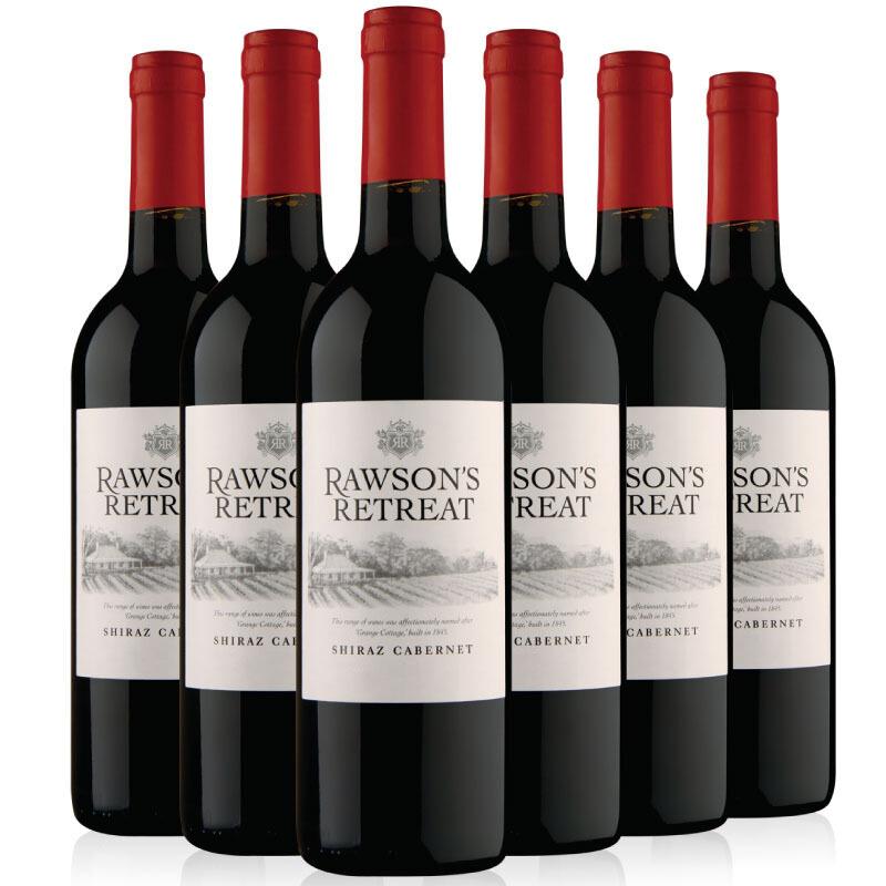 奔富洛神山庄西拉赤霞珠红葡萄酒750ml 6支装