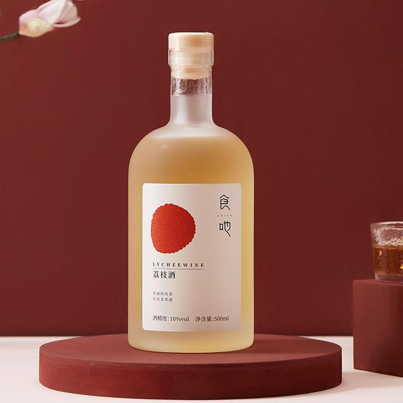 10°食吔/SHIYE荔枝水果酒荔枝酒低度高颜值甜酒500ml