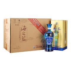 52°洋河蓝色经典 海之蓝 绵柔浓香型白酒  520ml*6瓶 整箱