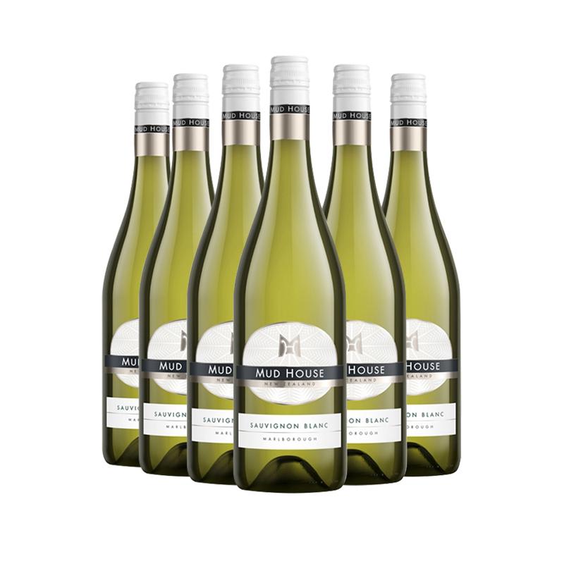 新西兰进口干白 泥房子马尔堡长相思干白葡萄酒750ml6支装