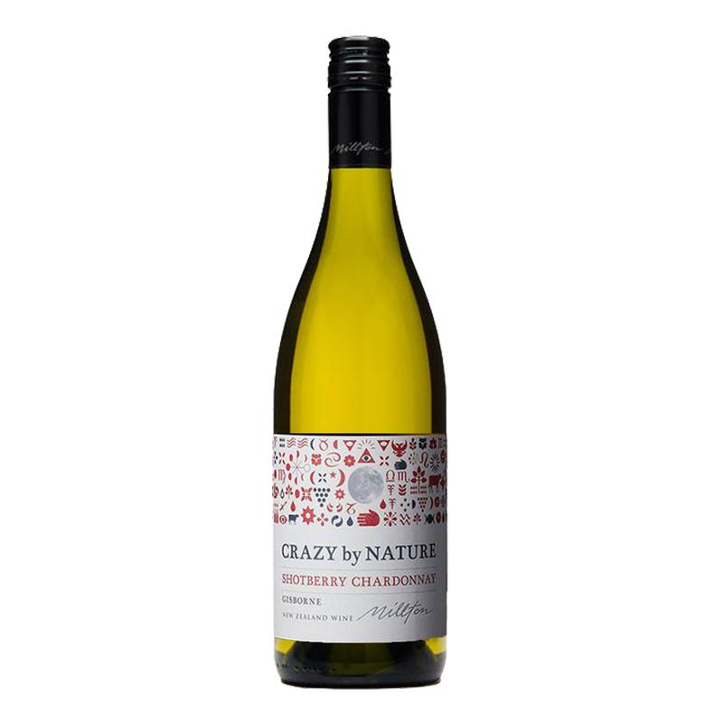 米尔顿酒庄自然系列霞多丽白葡萄酒 MILLTON CRAZY BY NATURE SHOT