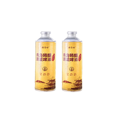 醉青怀青岛精酿原浆啤酒-金啤  全麦拉格手工酿造1000ml*2