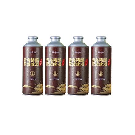 醉青怀青岛精酿原浆啤酒•黑啤  全麦小麦焦麦芽世涛手工啤酒1000ml*4