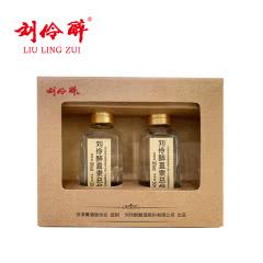 刘伶醉直隶总督小酒版 白酒38度50ml*2两瓶装纯粮固态浓香型白酒