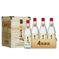 李渡酒 典藏 礼盒装送礼佳品 兼香型白酒 52度 500ml*4整箱装
