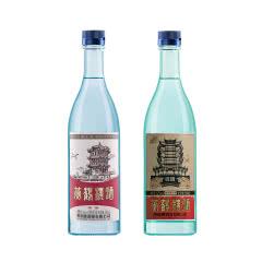 【组合】黄鹤楼52度汉清酒+45度汉汾酒 500ml 各1瓶 清香型白酒套装