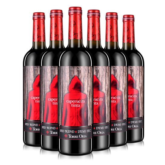 12.5°奥兰Torre Oria小红帽半甜红葡萄酒750ml 西班牙进口红酒